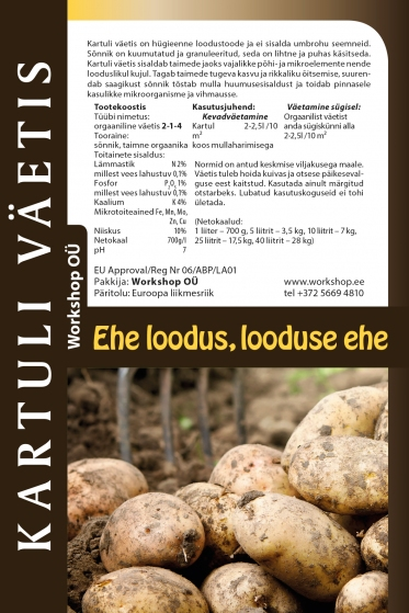Natural potato fertilizer