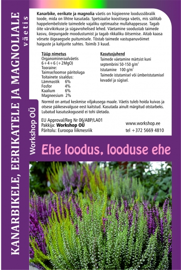 Natural fertilizerfor for Calluna 1L