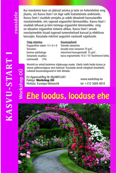 Startup for roses - natural fertilizer -1L