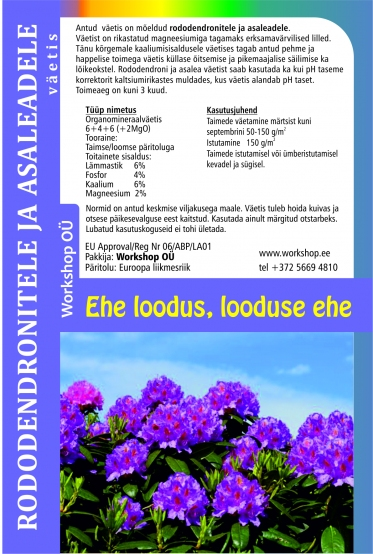 Natural fertilizerfor for Rhododendron-10L