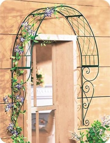 Metal Scroll Garden arches on window or door canopy